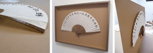 Chinese Fan in Shadowbox Frame