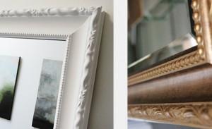 Framed mirrors sample