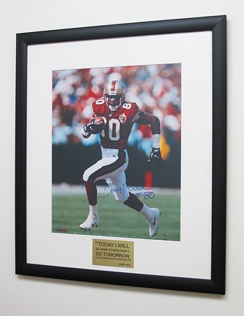 framed football photo